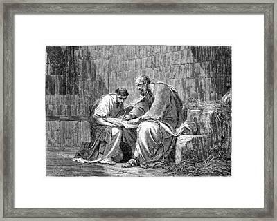 Saint Paul In Prison Framed Print