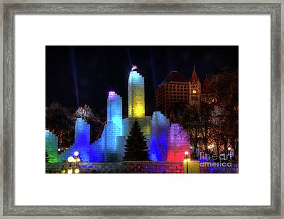 Saint Paul Winter Carnival Ice Palace 2018 Lighting Up The Town Framed Print