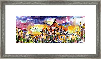 Saint Peter Basilica Rome Italy Framed Print by Ginette Callaway