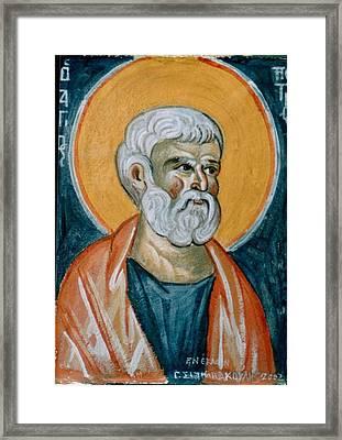 Saint Peter Framed Print by George Siaba
