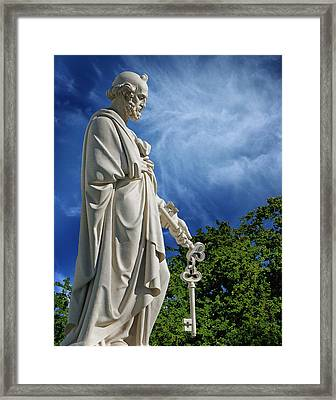 Saint Peter With Keys To Heaven Framed Print