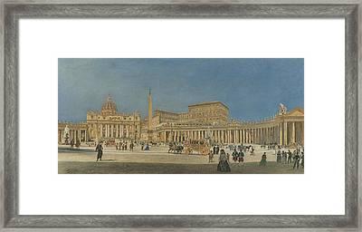 Saint Peter's Rome Framed Print