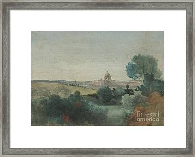 Saint Peter's Seen From The Campagna Framed Print by George Snr Inness