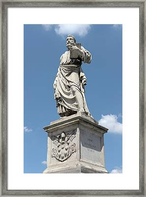 Saint Peter's Statue Framed Print by Fabrizio Ruggeri