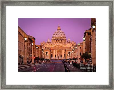 Saint Peter's Twilight Framed Print by Inge Johnsson