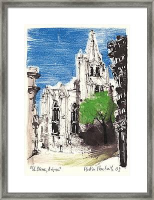 Saint Pierre Avignon Provence Framed Print by Martin Stankewitz