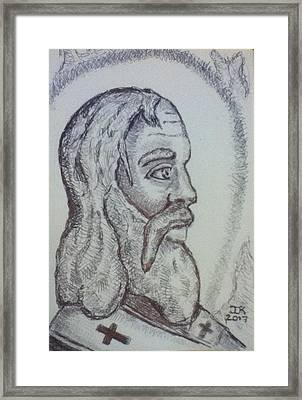 Saint Polycarp Framed Print by Joseph Kushnir