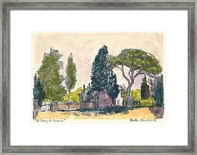 Saint Remy De Provence Landscape Framed Print by Martin Stankewitz