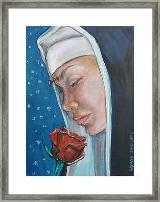 Saint Rita Of Cascia Framed Print