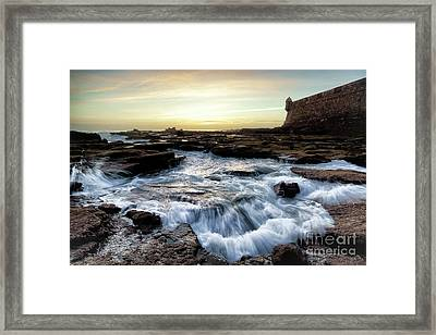 Framed Print featuring the photograph Saint Sebastian Castle Cadiz Spain by Pablo Avanzini