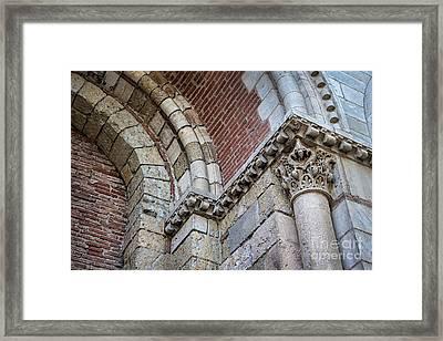 Saint Sernin Basilica Architectural Detail Framed Print