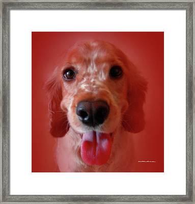 Saint Shaggy Portrait 26 Framed Print