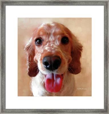 Saint Shaggy Portrait Framed Print