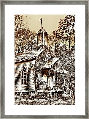 Saint Simons Church Sc Framed Print by Skip Willits