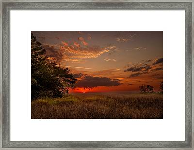 Saint Simons Island Salt Marsh Twilight Framed Print