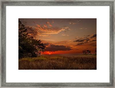 Saint Simons Island Salt Marsh Twilight Framed Print