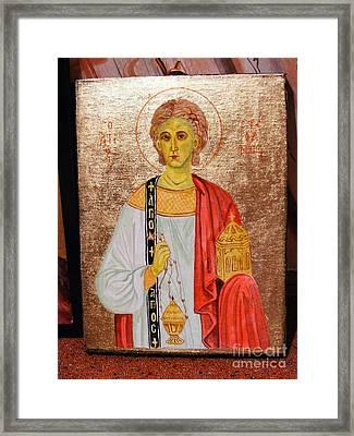 saint Stephan Framed Print by Ciocan Tudor-cosmin