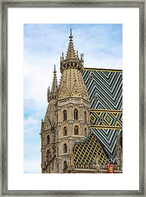 Saint Stephens Spires And Tiled Roof Framed Print