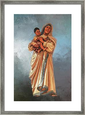 Framed Print featuring the photograph Saint Teresa Of Calcutta by Donna Kennedy