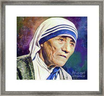 Saint Teresa Of Calcutta Framed Print by KaFra Art