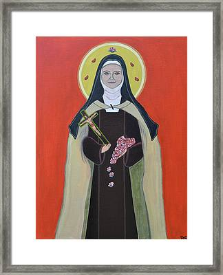Saint Therese Of Lisieux Framed Print by Danielle Tayabas