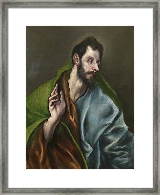 Saint Thomas Framed Print by El Greco