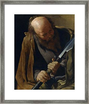 Saint Thomas Framed Print by Georges de La Tour