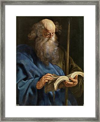 Saint Thomas Framed Print by Peter Paul Rubens