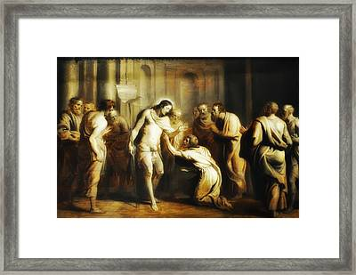 Saint Thomas Touching Christ's Wounds Framed Print by Bill Cannon