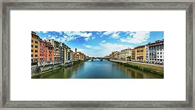 Saint Trinity Bridge From Ponte Vecchio Framed Print