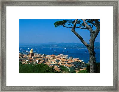 Saint-tropez - Provence Framed Print by Martial Colomb