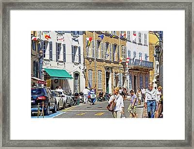 Saint Tropez Moment Framed Print