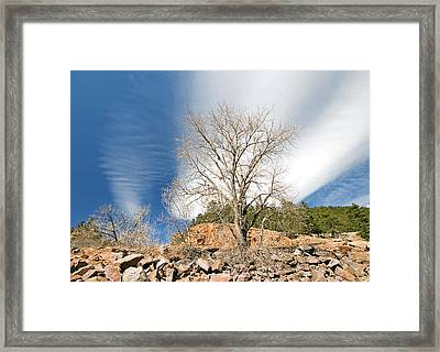 Saint Verain Sky Framed Print by James Steele