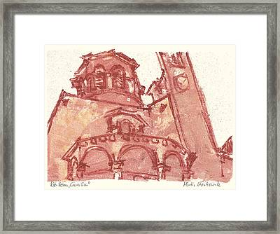 Framed Print featuring the painting Saint Veran Cavaillon by Martin Stankewitz