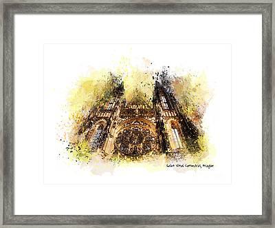 Saint Vitus Cathedral Prague Framed Print