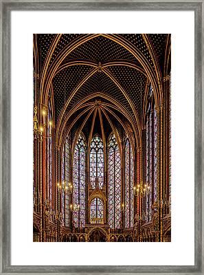 Sainte-chapelle 1 Framed Print by Janet Fikar