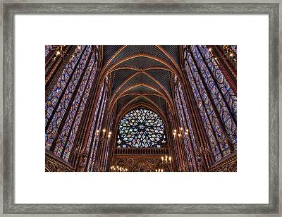 Sainte-chapelle 2 Framed Print by Janet Fikar
