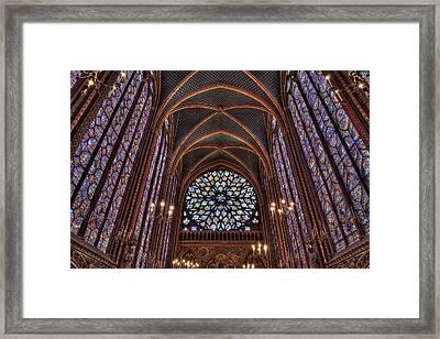 Sainte-chapelle 3 Framed Print by Janet Fikar