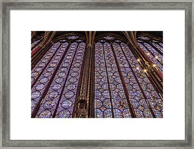 Sainte-chapelle 5 Framed Print by Janet Fikar