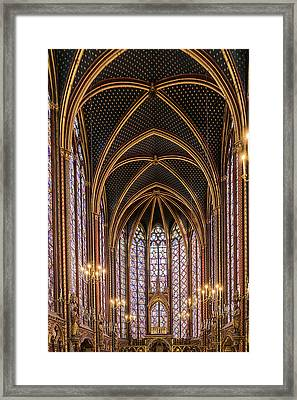 Sainte-chapelle 6 Framed Print by Janet Fikar