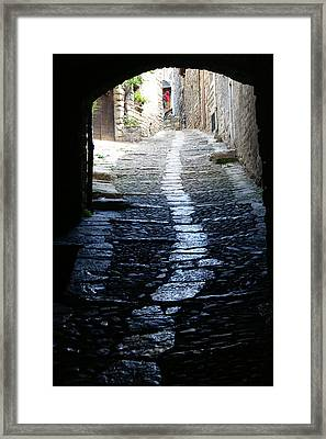 Sainte Enimie In France Framed Print by Jessica Rose