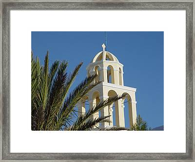 Framed Print featuring the photograph Saintorini A Testiment Of Time by Nancy Bradley