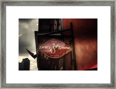 Saints And Sinners Framed Print
