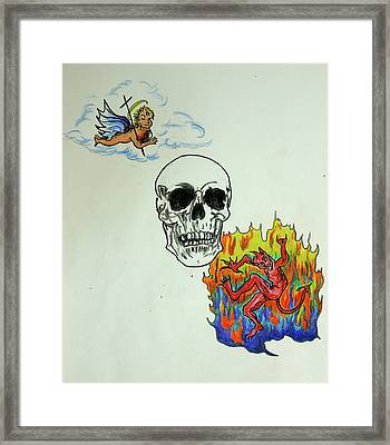Saints And Sinners Framed Print by Pete Maier