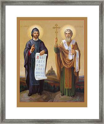 Framed Print featuring the painting Saints Cyril And Methodius - Missionaries To The Slavs by Svitozar Nenyuk