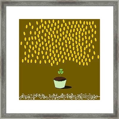 Saints Patrick Cupcake Framed Print