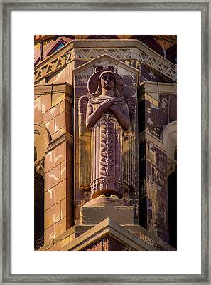 Framed Print featuring the photograph Saints Watch Over Us by Onyonet  Photo Studios
