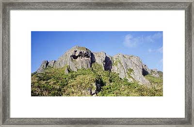 Saipans Suicide Cliff Framed Print by Mitch Warner - Printscapes