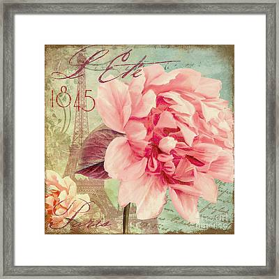 Saisons Fleurs Pink Framed Print by Mindy Sommers