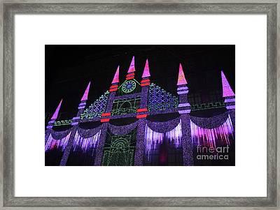 Saks Fifth Avenue Christmas Light Show Framed Print by John Telfer
